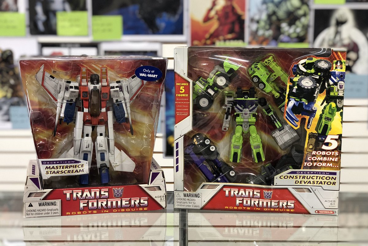 More than meets the eye!  Check out our updated Transformers section - just a few additions shown  Hurry in today! You won't be disappointed #Transformers #Masterpiece #Starscream #Devastator #TransformerMasterpiece #Exclusive #ActionFigureCollector #Collect #Collector #LCS