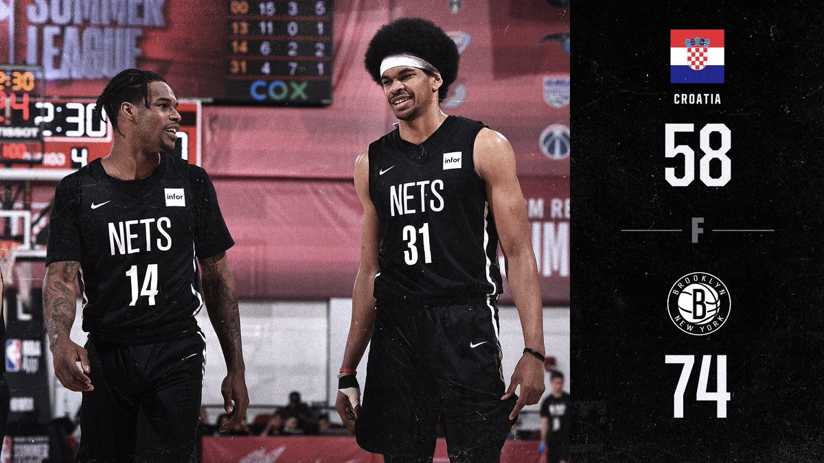 ⚫️⚪️ NETS WIN! ⚪️⚫️  @DzMusa & @RODIONS1 both finish in double figures as we get the W against Croatia