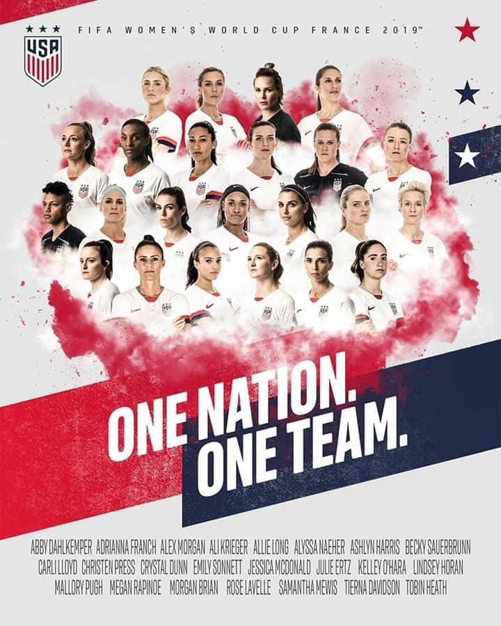 Two great teams go head to head, with both sides boasting #womencoaches in a beautiful display of love of the game, spirit snd sportsmanship. History, everybody. #USNWT #USA #WomenInSport #WorldCup