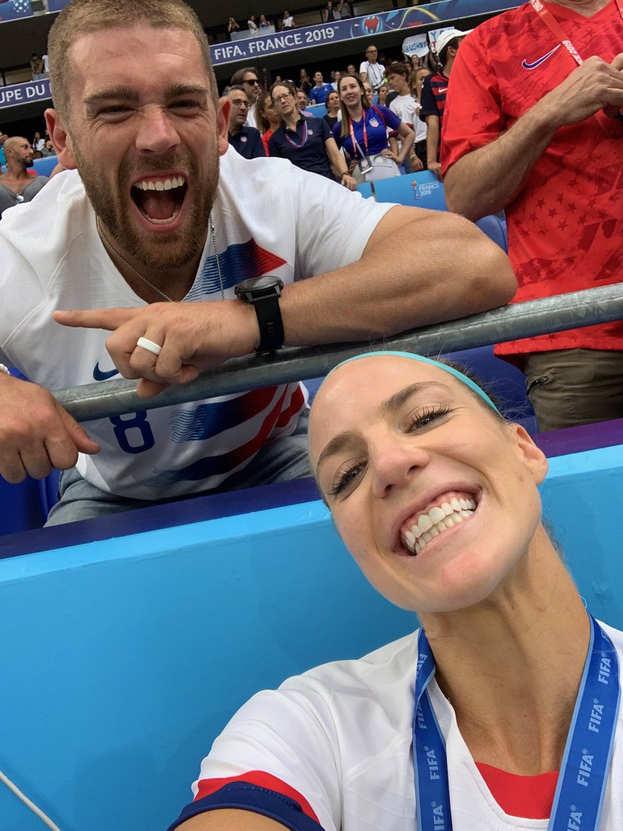 Image result for julie ertz and zach ertz world cup