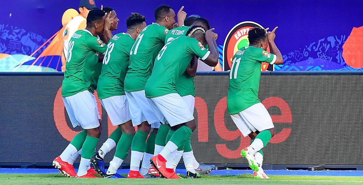 Before this year, Madagascar had never qualified for the Africa Cup of Nations.     They were unbeaten in the group stages. with wins against Nigeria & Burundi.   They've just beat DR Congo on penalties to reach the quarters.   History.  #AFCON2019 #MADDRC #AlefaBarea <br>http://pic.twitter.com/yRqI1BjSXm