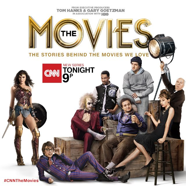 STARTING TONIGHT (Sunday, 7/7), 9:00 pm ET/PT on CNN., The Movies, all about American movies from the 20s through the 2000s. My wife, Yaffa Lerea, is one of the lead editors on this series, and it promises to be super-informative and super-fun.