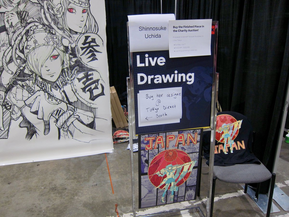 The live drawing by Shinnosuke Uchida down in Artist Alley is BONKERS. #AnimeExpo2019 #AS2019