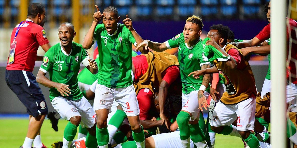 Madagascar 2-2 Guinea   Madagascar 1-0 Burundi   Madagascar 2-0 Nigeria  Beat DR Congo on penalties  Next up, Ghana or Tunisia.  Welcome to the world stage, Barea.  #AFCON2019 #MADDRC #AlefaBarea <br>http://pic.twitter.com/9FvoFG7anf