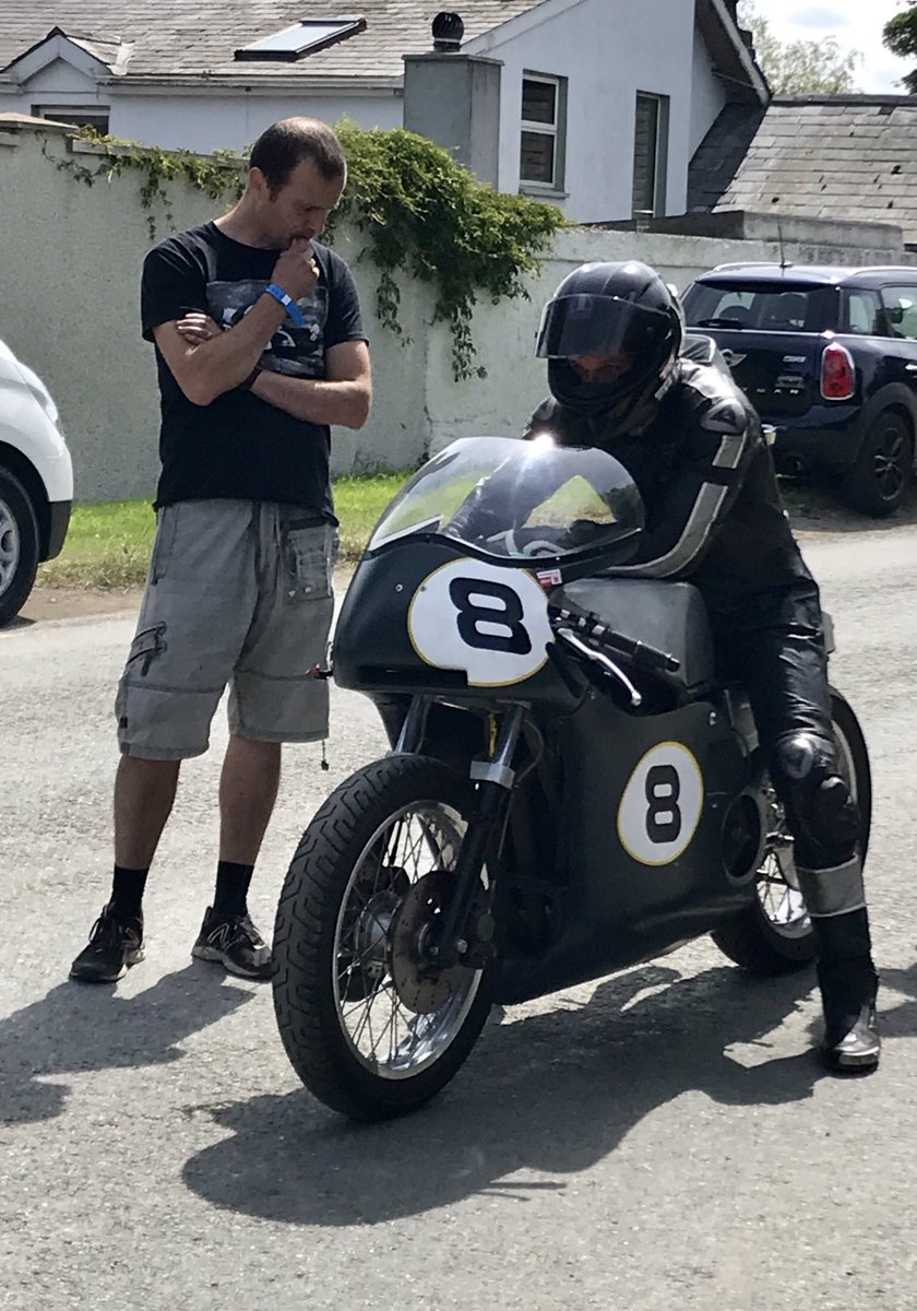 Guy Martin before his race today at @LoughshinnyMSC Skerries 100. He would go and win it, beating Richard Ford by 0.06 of a second.