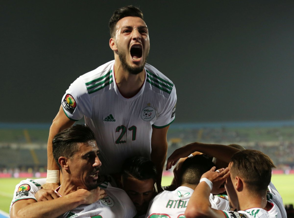 Belaïli ✅ Mahrez ✅✅ Ounas ✅✅✅ Algerias 3-0 win over Guinea on this day one year ago in the #TotalAFCON2019 saw great goals! ⚽