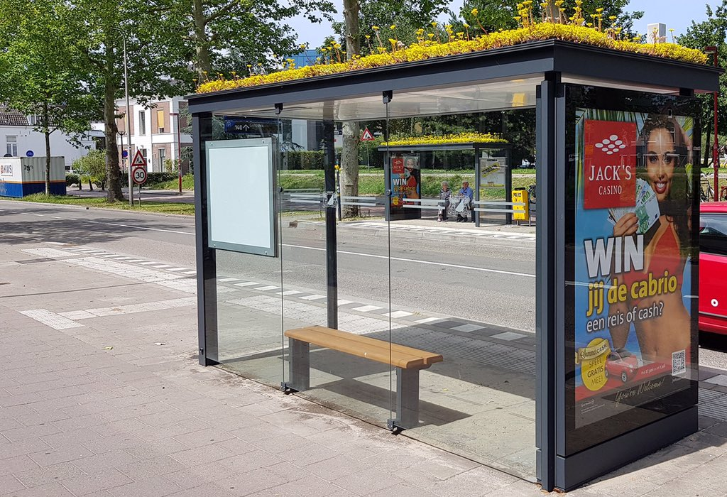 Holland Turns Over 300 Bus Stops into Green Roof Ecosystems for Bees