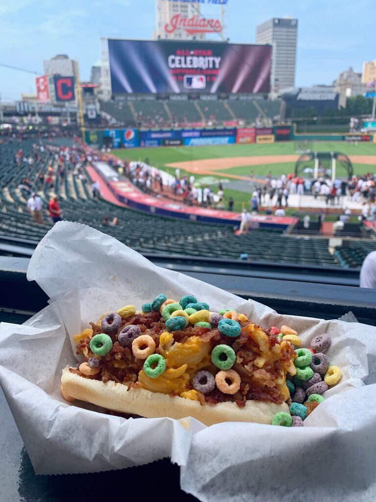 """Indians Great Eats on Twitter: """"⭐️ All-Star Giveaway! ⭐️ We're looking to the future with the All-Star Futures Game tonight! One lucky fan will win a Slider Dog from Happy Dog by"""