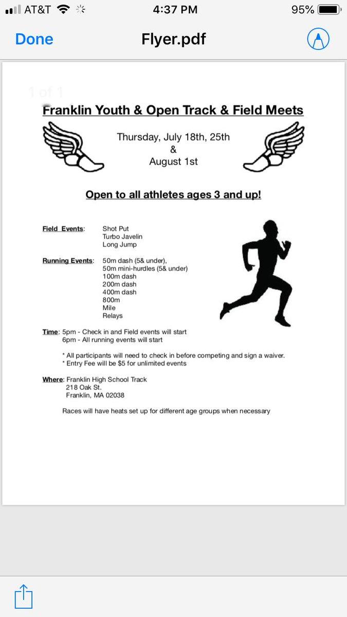 Open Track & Field Meet - Jul 18