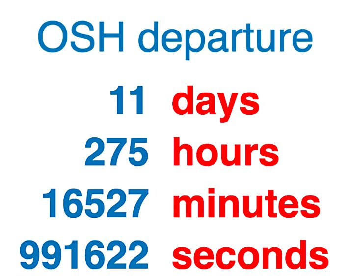 Fresh right now on Airplanista:   The Hardest 11 Days of the Year are upon me. That's because I know what's coming at #OSH19:  https://is.gd/NYwYjZ