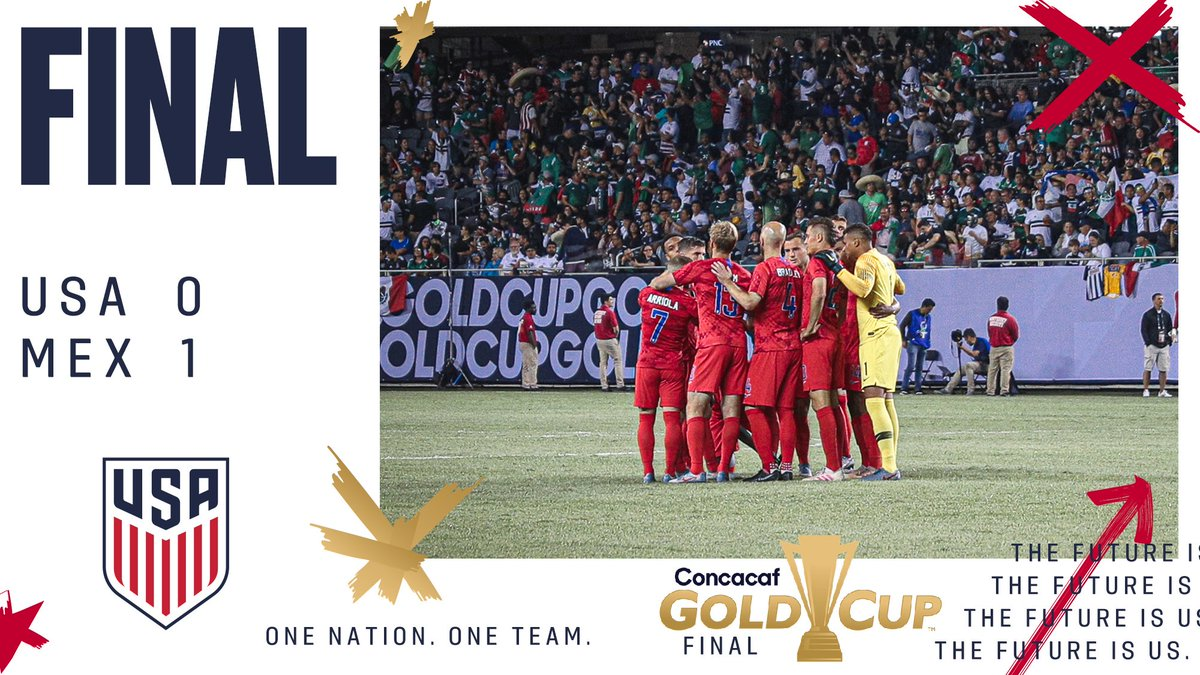 FT   Hard fought. Proud of our team. #GoldCup2019