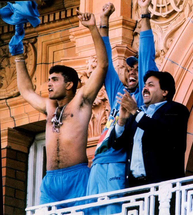"Happy Birthday to a 56"" Captain , Dada @SGanguly99 ! 56 inch chest,  8th day of the 7th month, 8*7 = 56 and a World Cup average of 56.  #HappyBirthdayDada , May God Bless You !"