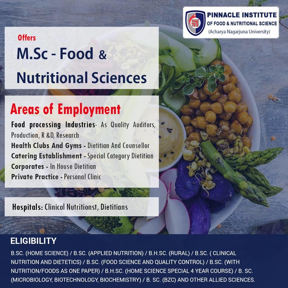 Pinnacle Food And Nutrition On Twitter Welcome To Pinnacle Institute Of Food Nutritional Sciences The Course Offers To Acquire The Requisite Skills For Functioning In Various Technical Roles In The Food