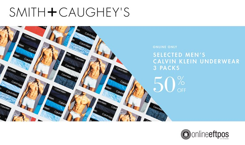 #CalvinKlein Underwear 50% OFF!!  - available *online only* @SmithandCaughey    https://www. smithandcaugheys.co.nz/shop/men/under wear-socks/online-only-deal  …   @ASBMobile users can pay with #OnlineEFTPOS - No exposing bank account, login or card details on the web -  https:// youtu.be/AHqXckxEe3o         #SecureFastandEasy #OpenBanking<br>http://pic.twitter.com/3nOgX50mzV