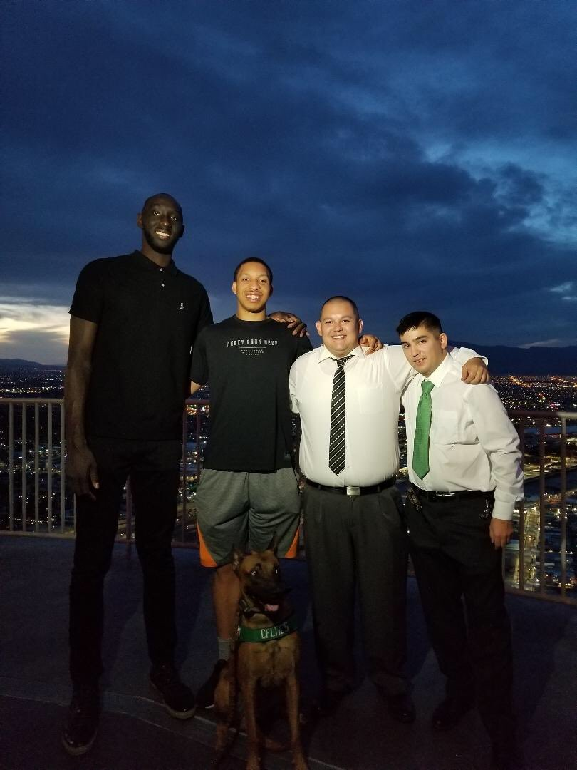 @Grant2Will @tackofall99 thanks for coming out tonight guys! Best of luck to you both the rest of summer league and beyond. Looking forward to seeing you at the garden this fall! @celtics @JuanJohnnyRico