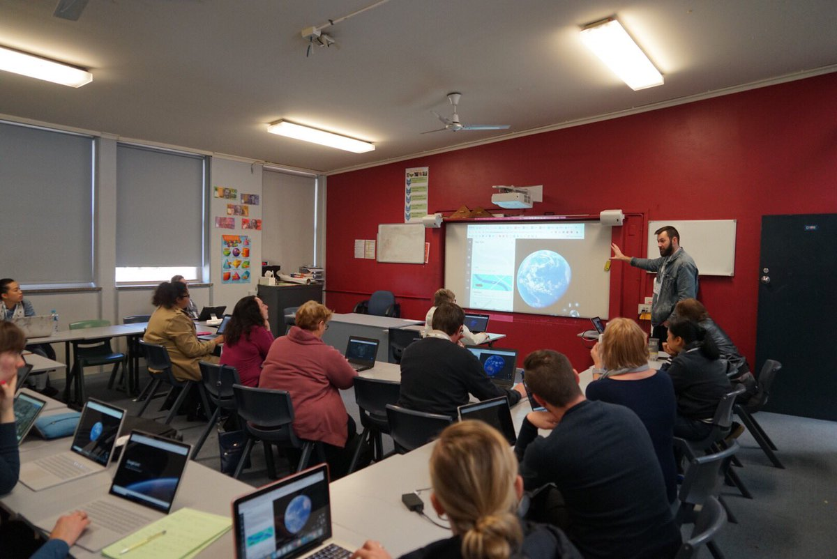 Just presented at #edtechteam Sydney Summit. Exploring Google Geo Tools with a bunch of awesome educators! Bit.ly/geowithgerhard