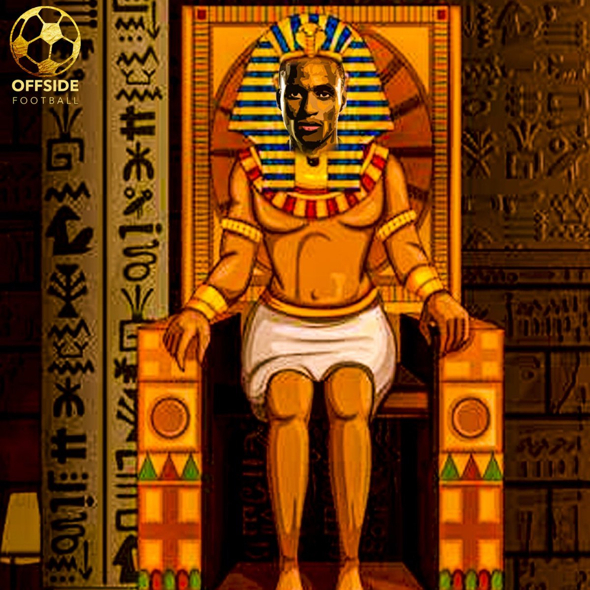 Egypt got #Lorched  There's a new Pharaoh in town , @nyoso_3  Credit: @authentictelvin   #TotalAFCON2019  #AfricanCupOfNations #BafanaBafana  #ThePharaohs  #EGYRSA #OffsideFootball<br>http://pic.twitter.com/WVJrnSx09r