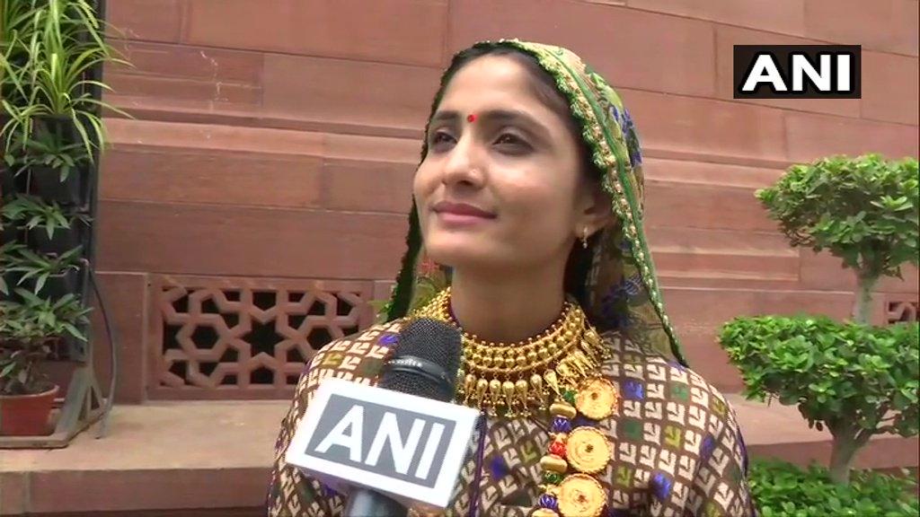 Gujarati folk singer Gita Rabari meets PM Narendra Modi in Delhi