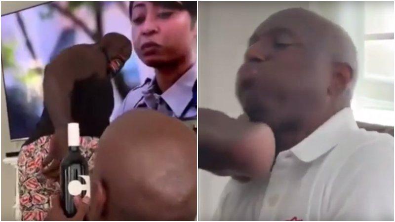 【影片】史上最強開瓶蓋挑戰?400斤的歐尼爾一腳下去,工作人員瞬間倒地!