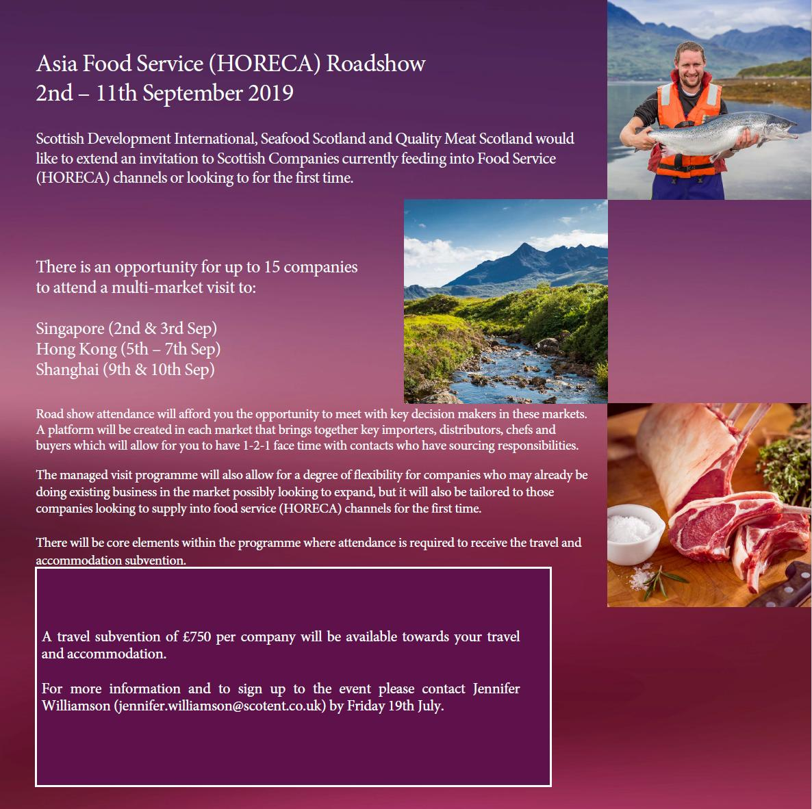 Don't miss your chance to sign up for the Asia Food Service Road Show - applications close this Friday! #lovescottishseafood #Export