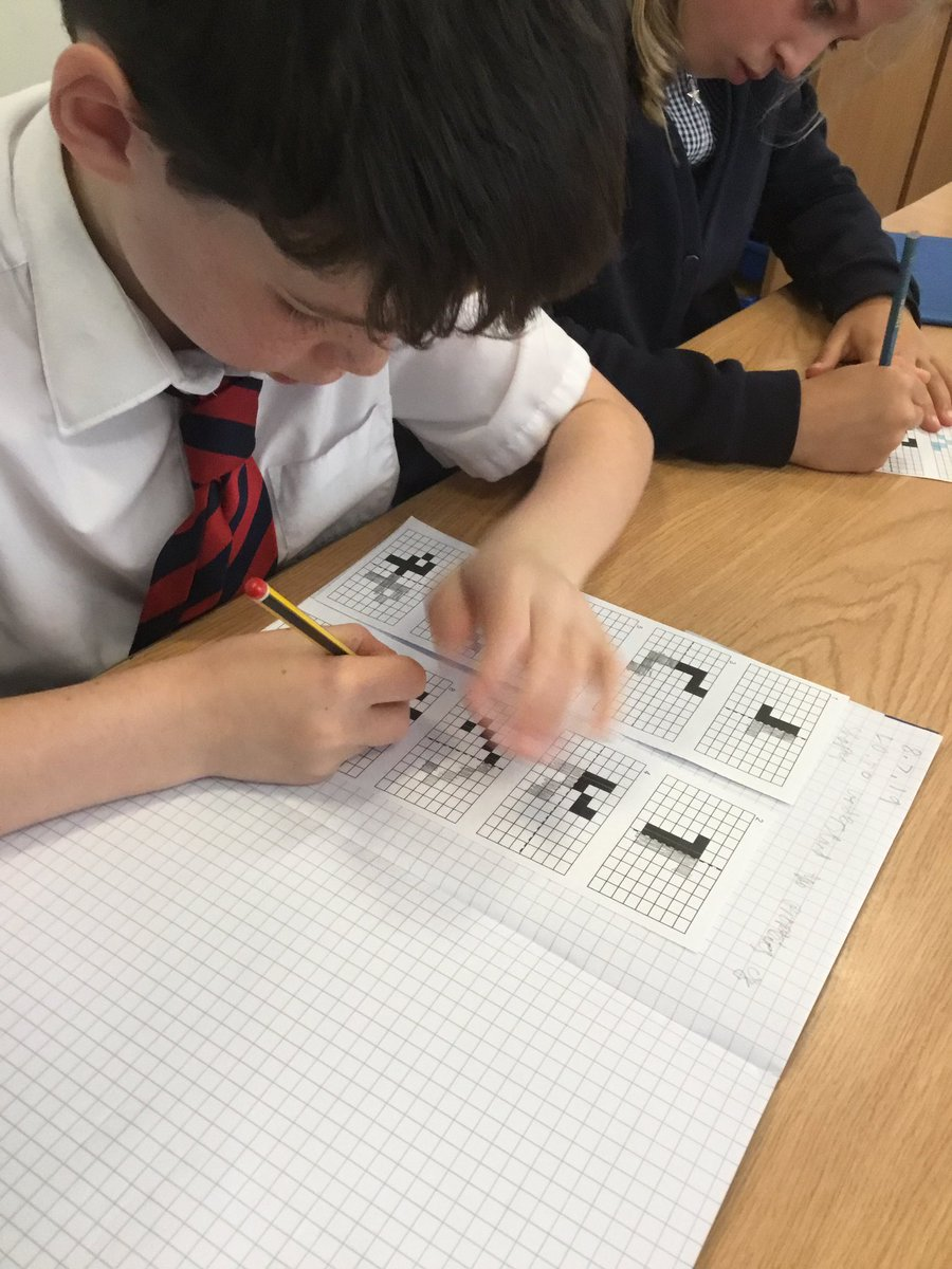 test Twitter Media - Completing symmetrical shapes, we must make sure the shape is mirrored on the other side of the line. #gorseymaths https://t.co/KJGZG0W7aT