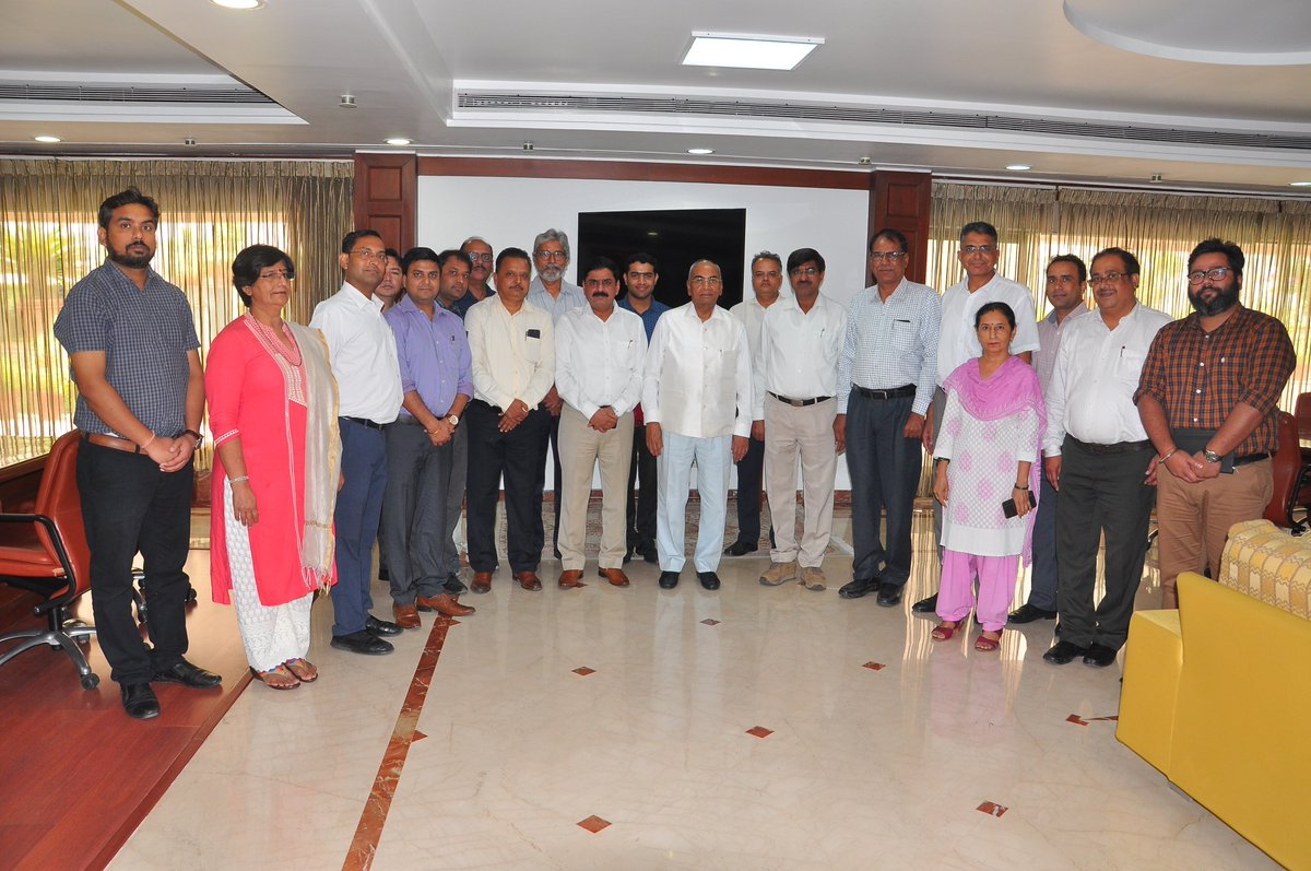 Glad to meet the newly elected members of #IFFCO Officers Association at my office today. Heartiest Congratulations to Sh. Jitendra Tiwari @JKT1963 for his election as President of #IFFCO Officers Association and other members of Officers Association & Central Executive Committee