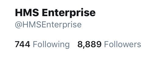 Hmmm only 1111 #Twitter followers away from #10k👇👍🖖#BoldlyGo #ThankYou to those who continue to follow us 🙏