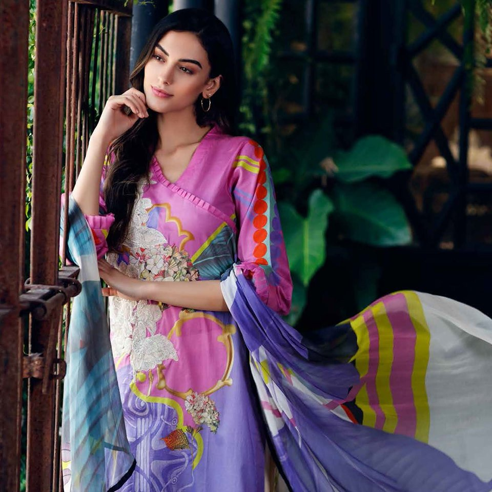 a758b260b7 ... Aniq Lawn Embroidered Suits with #Chiffon Dupatta At Best Price  Available Only At IBAAS. Visit- https://www.ibaasdesigner.com/ for inquiry:  011-41088377 ...