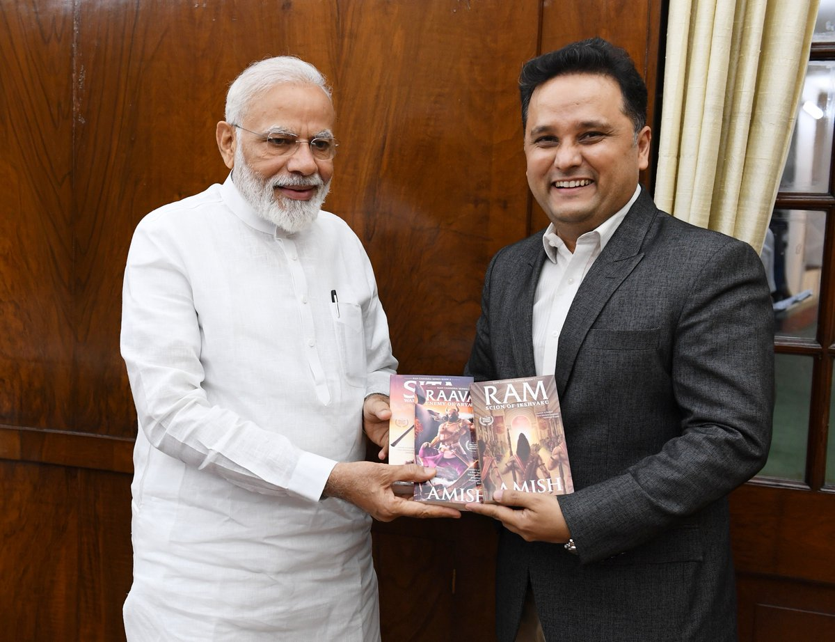 Wonderful interaction with @authoramish. Received copies of his works, which are being widely read across the nation. His writings have generated immense curiosity about India's rich past and culture. Best wishes to him.