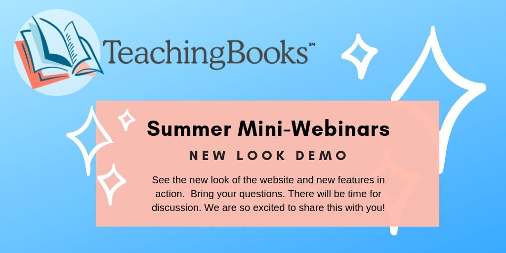 test Twitter Media - SPACES STILL LEFT! Join our 'TeachingBooks New Look' Webinar tomorrow.   We've got a new look and exciting new features! Drop in for this 15 minute mini-webinar to see it all in action. We are so excited to share this with you!   Reserve your spot: https://t.co/LhuCO8lwsB https://t.co/434iUzoTbZ