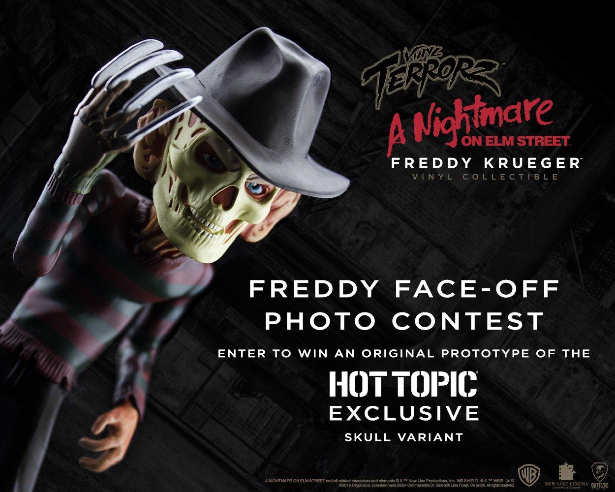 Cryptozoic Nightmare on Elm Street Freddy Krueger Skull Variant Hot Topic Excl