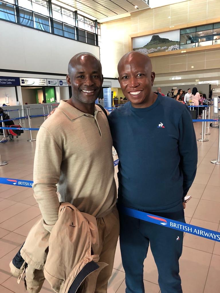 Caught up with @Julius_S_Malema at the airport after @DurbanJuly we've come a long way & I'm impressed by the manner he's matured politically. I congratulated him on his galvanised election position, it was a great effort signalling better to come @EFFSouthAfrica<br>http://pic.twitter.com/HgaOnzBEJ0