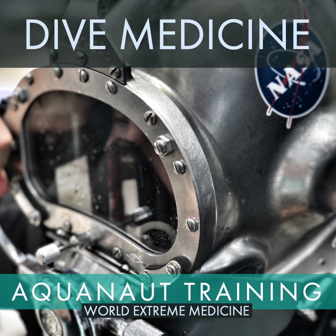 'Perhaps the world's best Dive Medicine course'.  Become a DiveMedTech & Honorary #Aquanaut on Aquarius @ReefBase   2020 Dates just released. Limited Space.  Book now. https://worldextrememedicine.com/products/courses/ocean-medicine/neemo-aquarius-dive/…  #dive #medicine #extreme