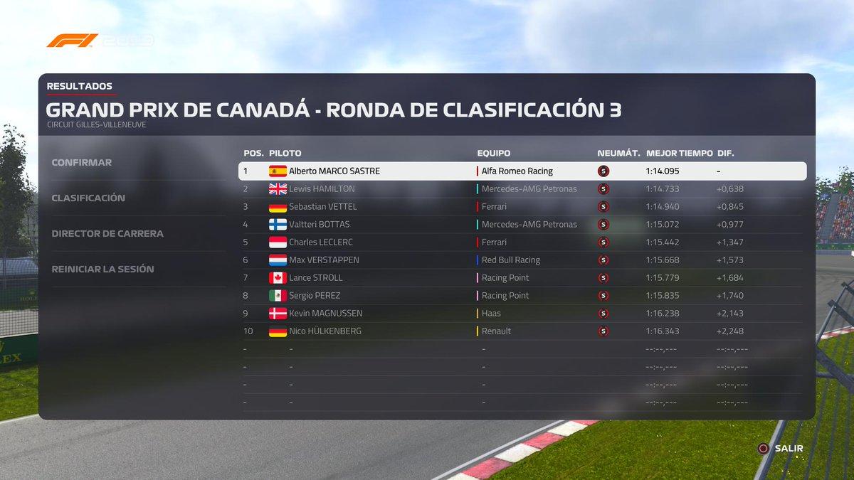 Pole y VICTORIA MAGISTRAL en el #CanadaGP 🇨🇦 #CANmovistarF1 de #F1 @F1 @movistar_F1 en #F12019 @Codemasters @Formula1game @alfaromeoracing #AlfaRomeoRacing!!