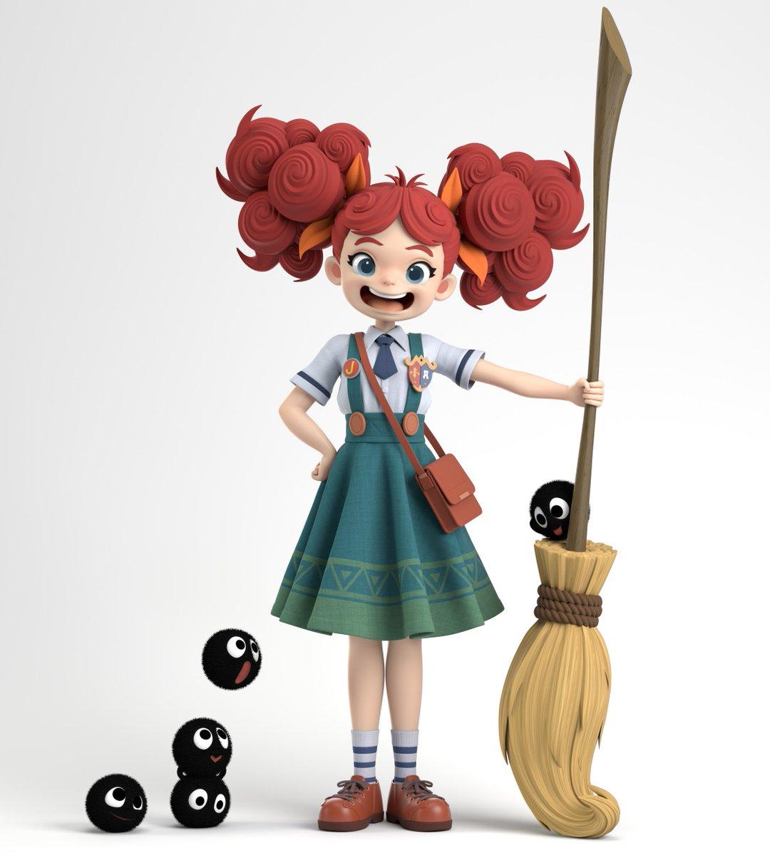 """빙글빙글 마녀의 대백과사전 -""""Little Witch Marie"""" 3D Sculpt by Jaeyeon Nam Concept by hong soonsang Jaeyeon Nam's artstation https://www.artstation.com/artwork/baPNWn"""
