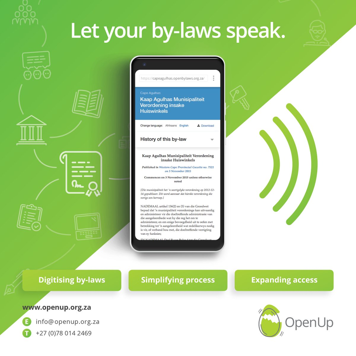 By-laws are crucial for managing local community issues such as liquor sales & refuse removal. On 13 July 2019, @CAPEAGULHASMUNI Youth Council, @OpenUpSA and @laws_africa will be exploring access to, understanding and use of by-laws #CAM  @code_cam @OpenByLawsZA https://t.co/W4EXTPp4Xz