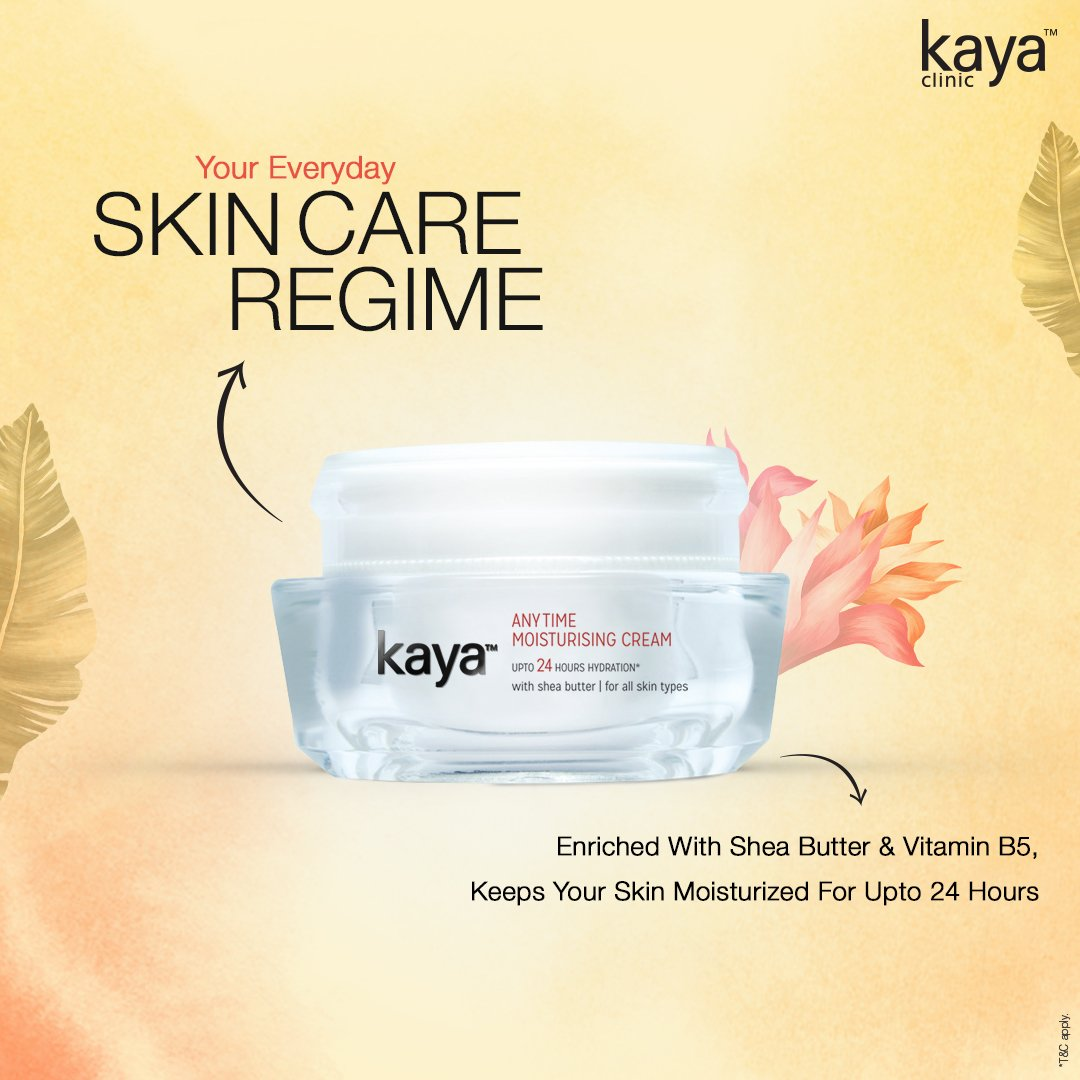 We've got the moisturizer your skin has been waiting for! Kaya's Anytime Moisturizing Cream is specially formulated with a unique moisture-lock formula to give you soft, supple skin for upto 24 hours. Click on the link to buy now: https://t.co/4iIXT6Qb1a #SkinHealth #SkinCareTips https://t.co/nGA1XMYCJG