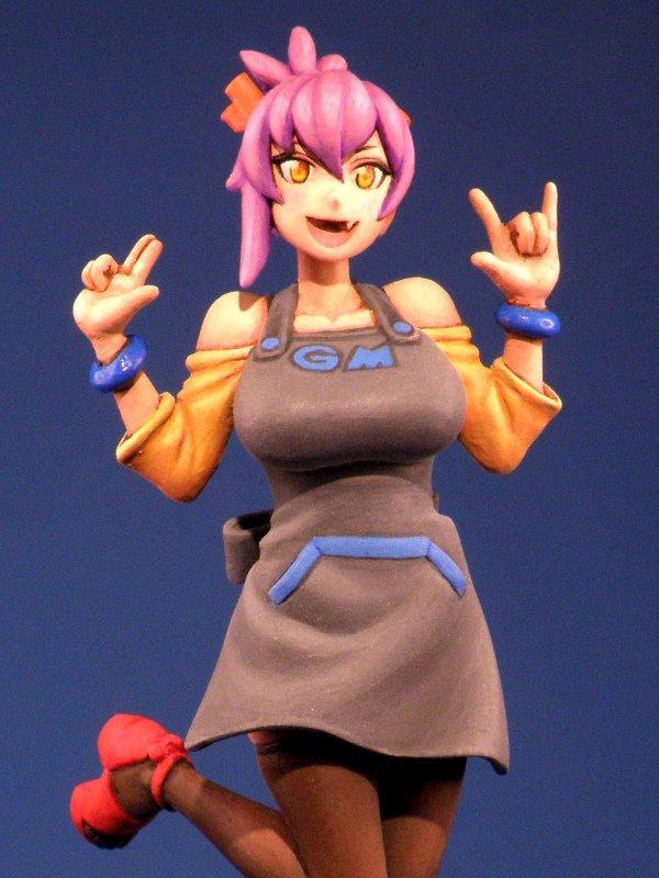 ワンフェス宣伝:太刀川カニオ原型1/20 モデルカステンのマスコットキャラクター、ギャルモデラーカス子ちゃんこと神田すみれ嬢を販売いたします。「あらあらこまった堂」4-18-09  詳細はガイドブック広告P.221またはWebにて! #wf2019s #bowieknife http://arakoma.jp