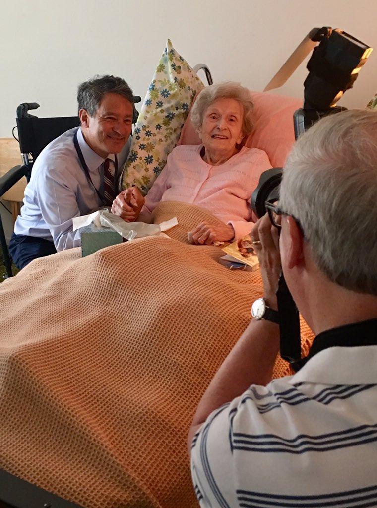 Spent some time this morning w/ the wonderful 104 yr old Fran & Dr. James Lai. @YaleGeriatrics #homevisit #geriatrics
