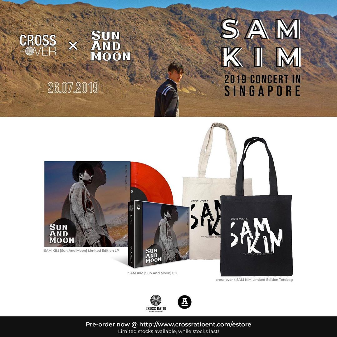 [❗] Organiser Cross Ratio Entertainment will be having exclusive online deal for preorders for Sam Kim @LeegitItsSam s official merchandise! Head over to their e-store & order by 24 July 2019, 12PM! #SamKim #SamKiminSG #샘김 #공식MD