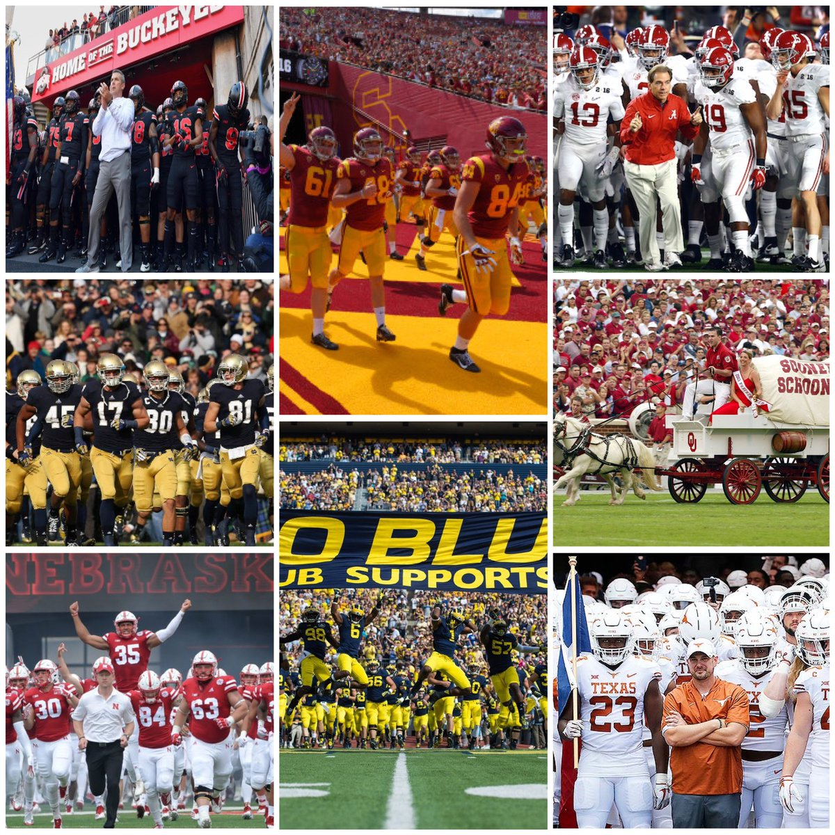 """There are 8 clear """"Blue Bloods"""" in the history of College Football:  -Ohio State -Oklahoma -Alabama -USC -Michigan -Nebraska -Notre Dame -Texas <br>http://pic.twitter.com/DCLdOSseWz"""