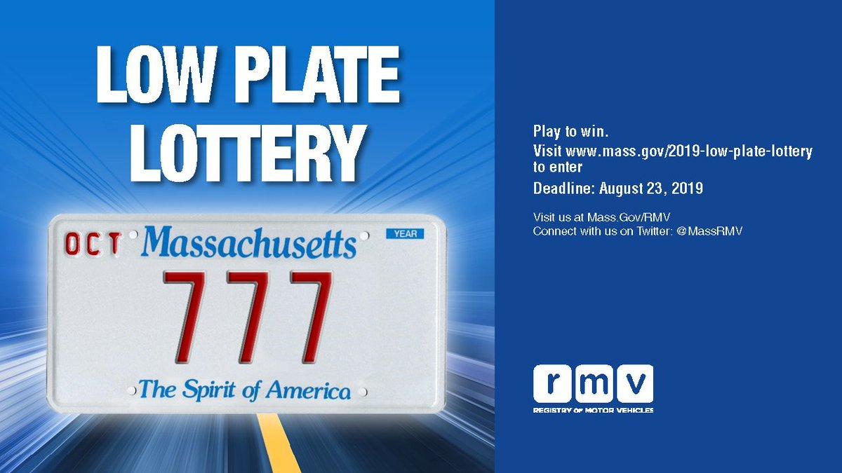 Madison : Mass rmv low number plate lottery 2018 winners