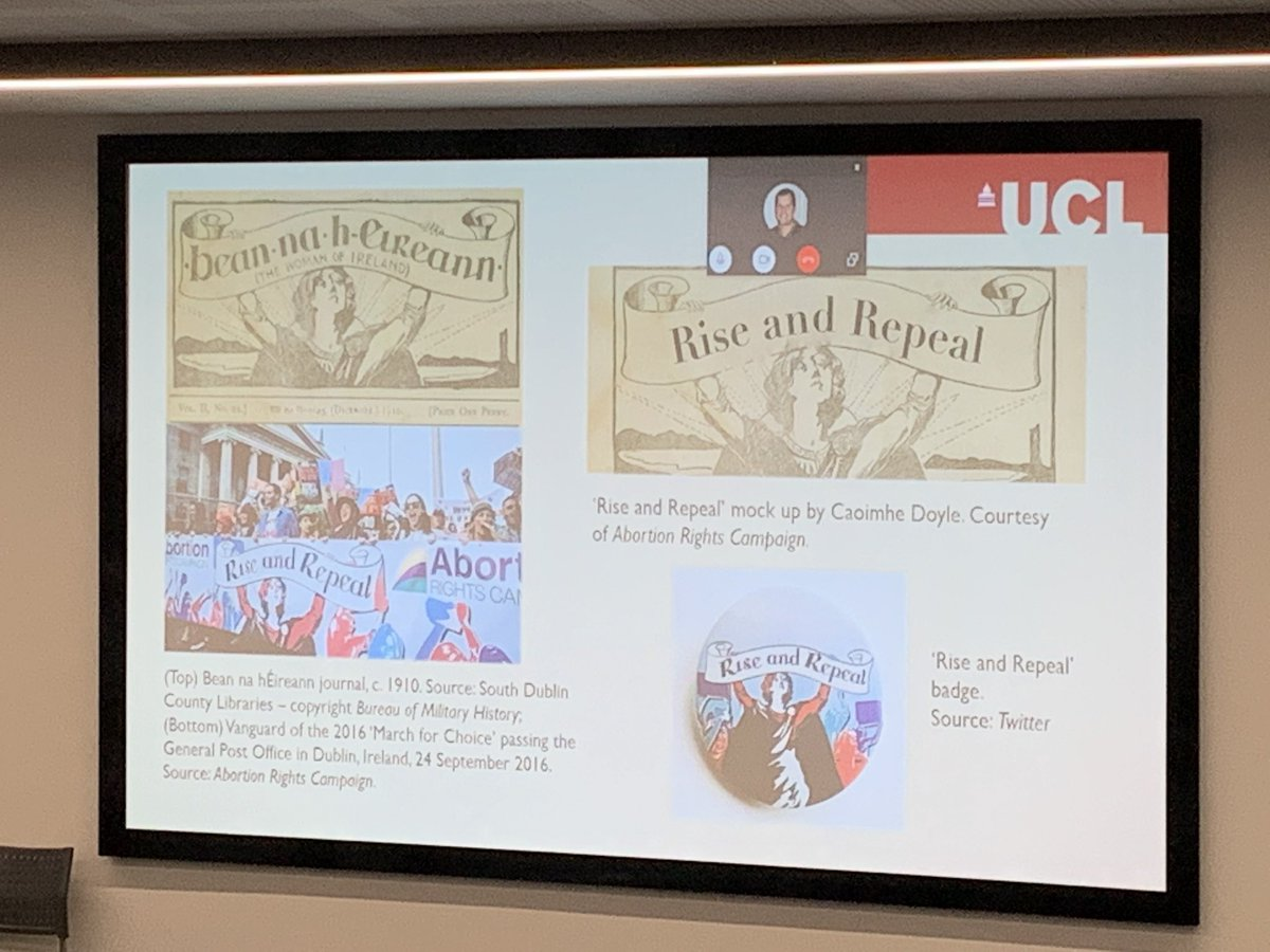 Our ESR @Han_Smyth presented her paper yesterday on heritage and uses of the past in the #repealthe8th campaign at #AERI2019 hosted by @LivUni. #criticalheritage