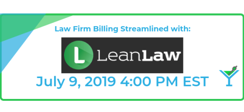 Hello Proadvisors, join us on July 9th at 4:00pm-5:00pm EDT, we will be airing our first Niche Spotlight episode! Tune in and see if @LeanLawCo is a good fit for you! Register here: http://ow.ly/72WD50uVF2N
