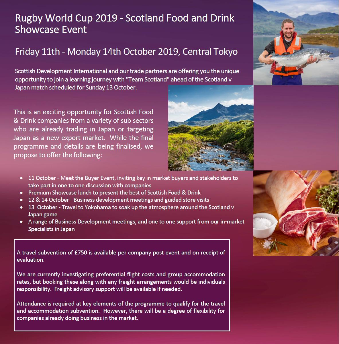 There's still time to join this fantastic showcase of Scottish food and drink in Japan during the Rugby World Cup this October! #RWC2019 #ScottishSeafood