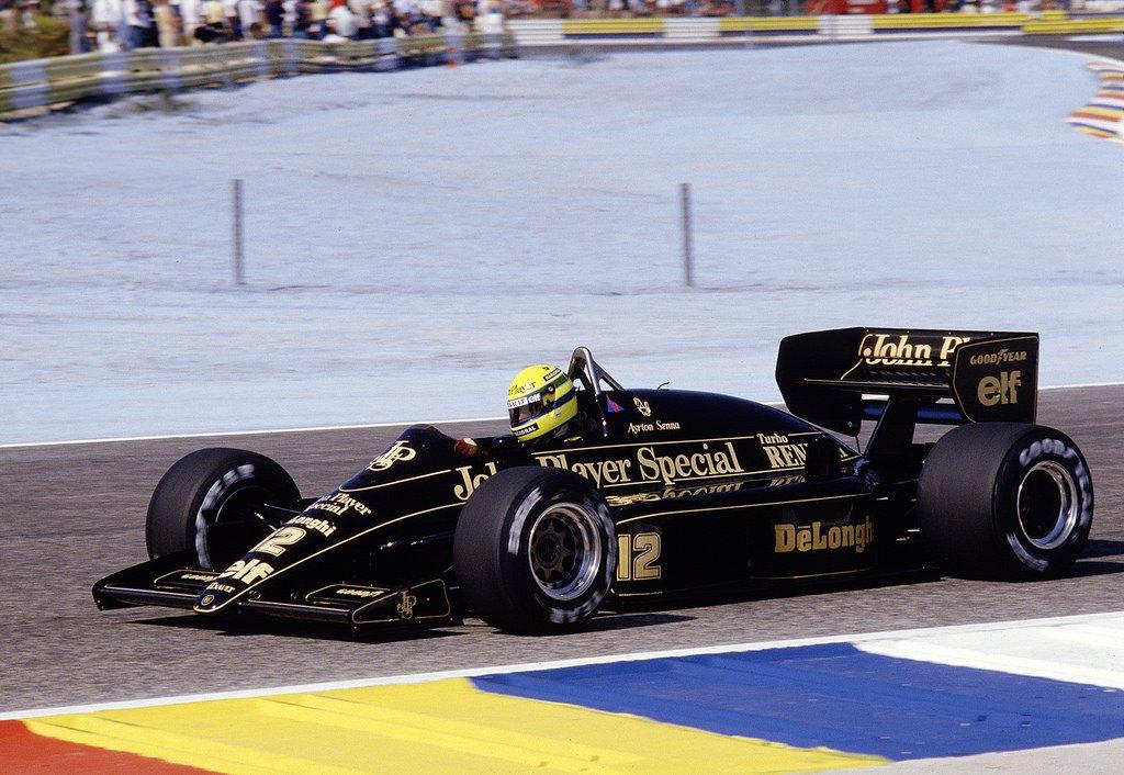 Ayrton Senna, JPS Lotus 98T - Renault-Gordini EF15B 1.5 V6. GP Paul Ricard 1986. #F1 #SuttonImages