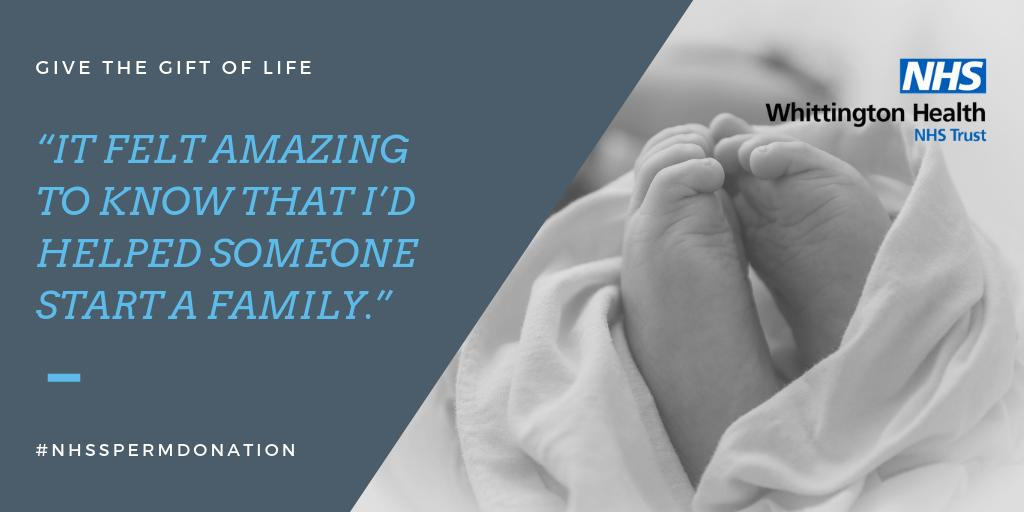We're so happy with the response to our request for new NHS sperm donors from London and the surrounding areas.  But we still need lots more!  If you'd like to help someone start a family, please email donorbank.whittington@nhs.net and we'll send you a short application form.