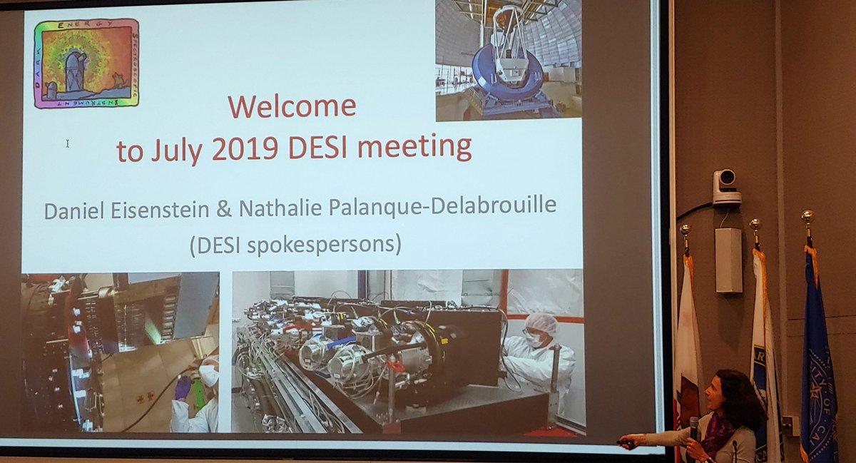 @desisurvey collaboration meeting kicking off this morning! N. Palanque-Delabrouille starting with important milestones & welcoming new members.