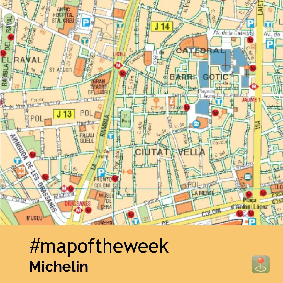 This map of the week features a tourist map of Barcelona by ...