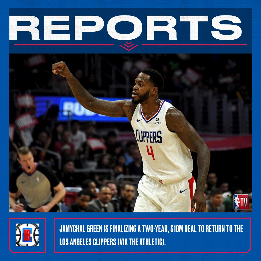 JaMychal Green is finalizing a two-year, $10M deal to return to the Los Angeles Clippers, via The Athletic.